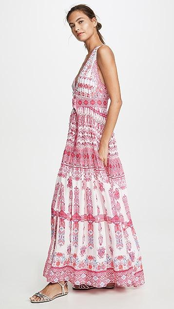 ROCOCO SAND Pink Multi V Neck Dress