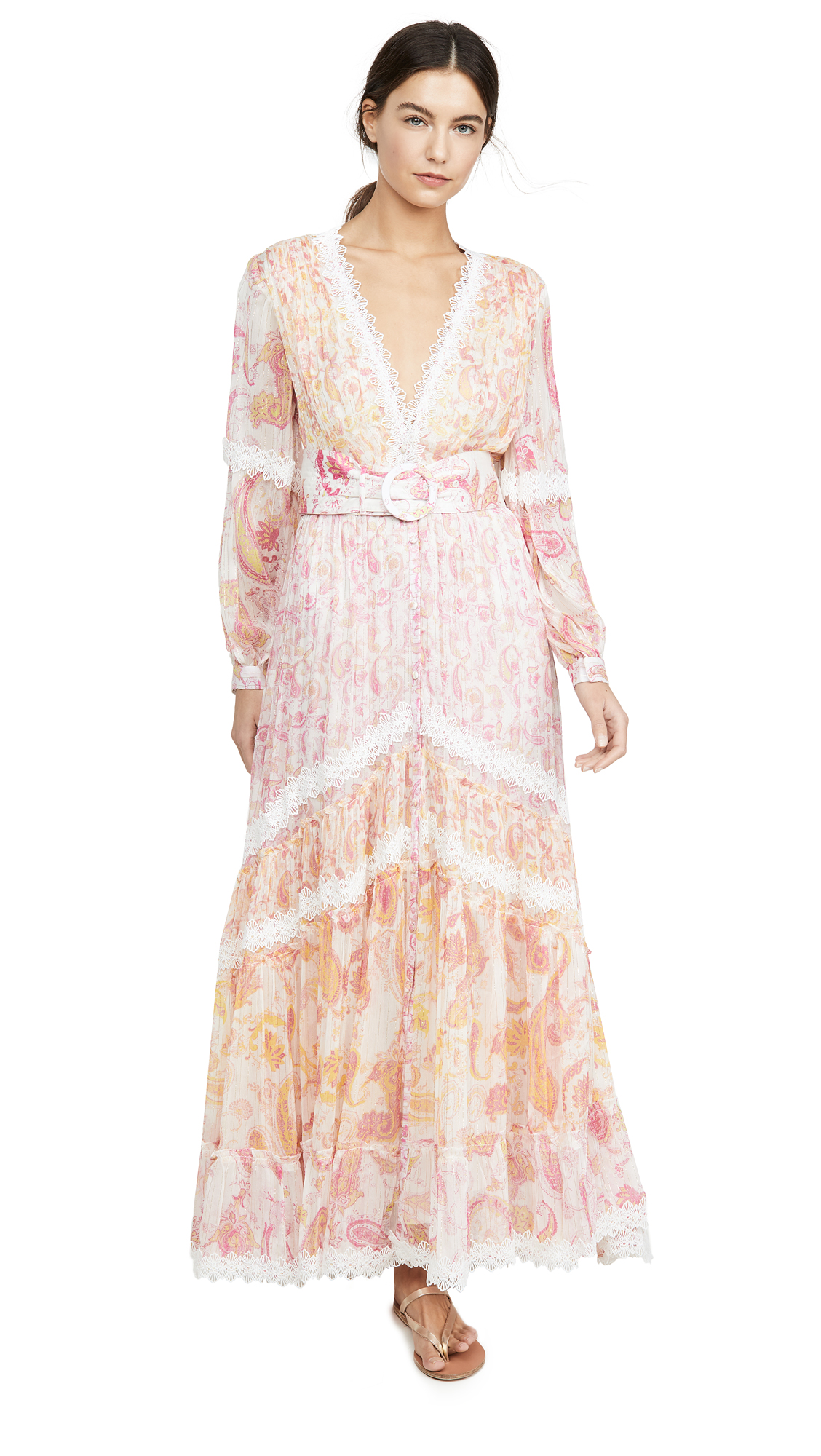 ROCOCO SAND V Neck Long Dress
