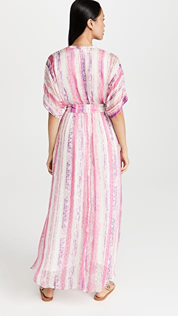 ROCOCO SAND Long Dress with Tie Up Belt