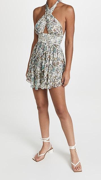 ROCOCO SAND Halter Short Dress