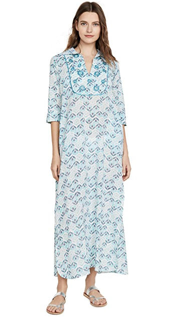 Ro's Garden Bella Embroidered Long Dress
