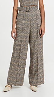 ROKH High Waisted Belt Trousers