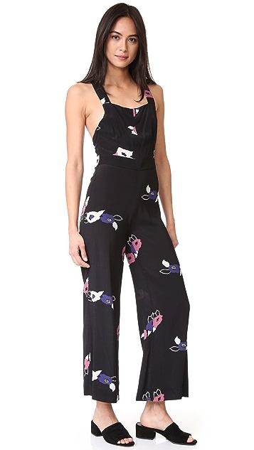 Rolla's Black Roses Jumpsuit