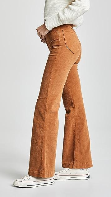 Rolla's Расклешенные вельветовые брюки East Coast