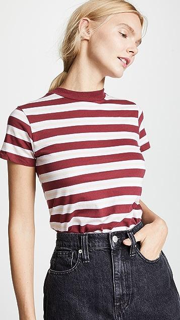 Rolla's 条纹水手领 T 恤