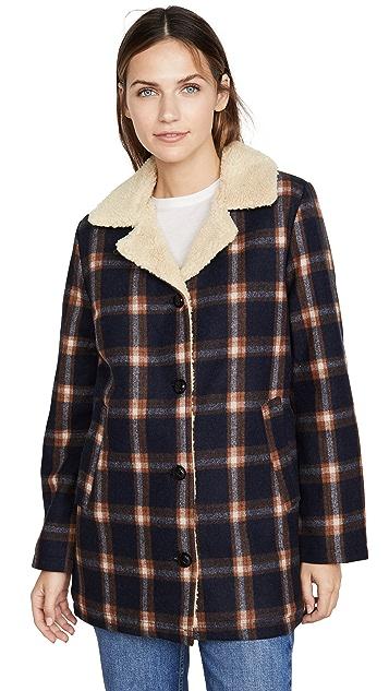 Rolla's 格纹仿羊羔绒外套