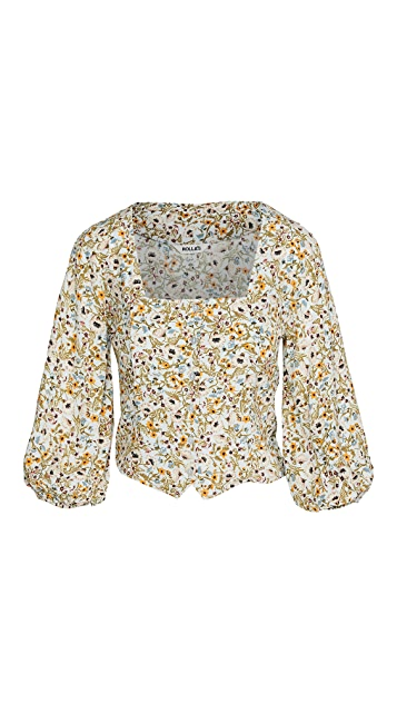 Rolla's Roxanne Meadow Floral Blouse