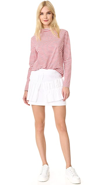 Romanchic Big Ruffle Miniskirt