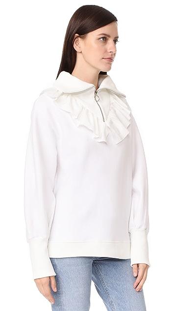 Romanchic Zipper Top