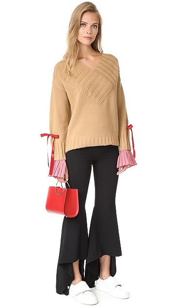 Romanchic Deep V Neck Sweater