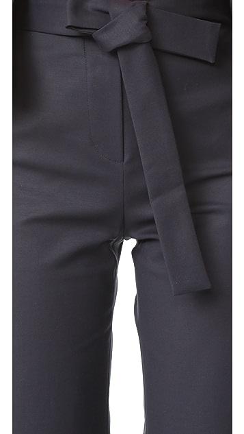 Romanchic Flare Belt Pants