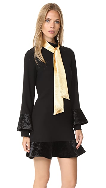 Romanchic Gold Ribbon Dress