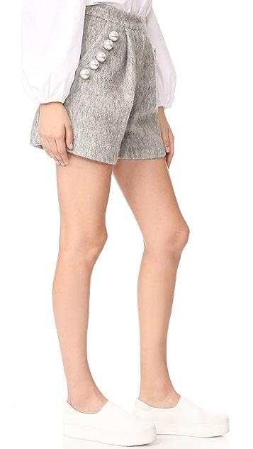 Romanchic Imitation Pearls in Shorts