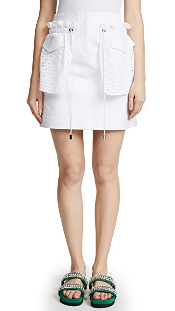 Romanchic Eyelet Pocket Skirt
