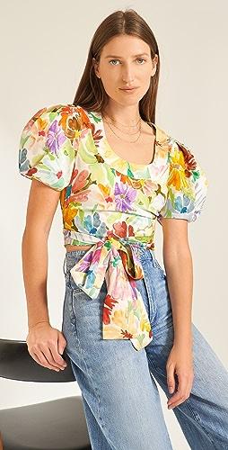 Rosie Assoulin - Puff Sleeve Crop Top