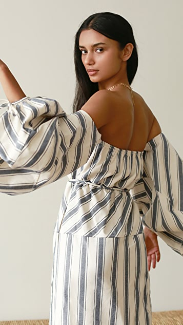 Rosie Assoulin Balloon Sleeve Dress