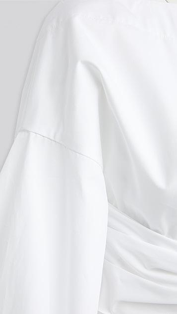 Rosie Assoulin Fig Sleeve Top