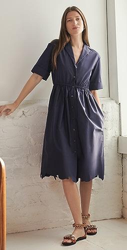 Rosie Assoulin - Jane Scalloped Shirt Dress