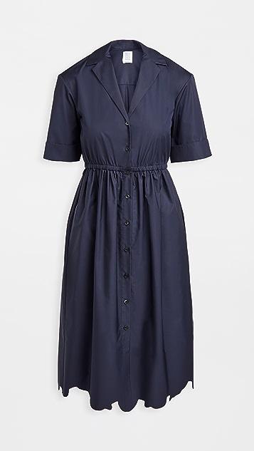 Rosie Assoulin Jane Scalloped Shirt Dress