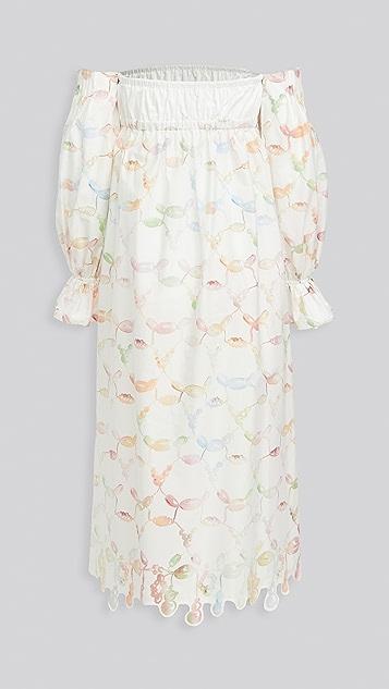Rosie Assoulin Strapless Bell Cuff Dress