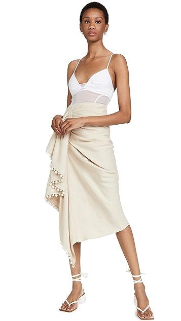 Rosie Assoulin 分层吊带荷叶边连衣裙