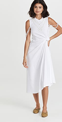 Rosie Assoulin - Pearl Knotted Tee Dress