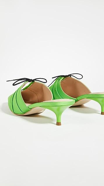 Rosie Assoulin Pleated Ballerina Mules