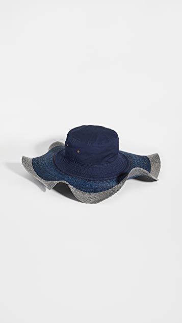 Rosie Assoulin 荷叶边混搭帽子