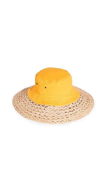 Rosie Assoulin Vented Straw Hybrid Hat