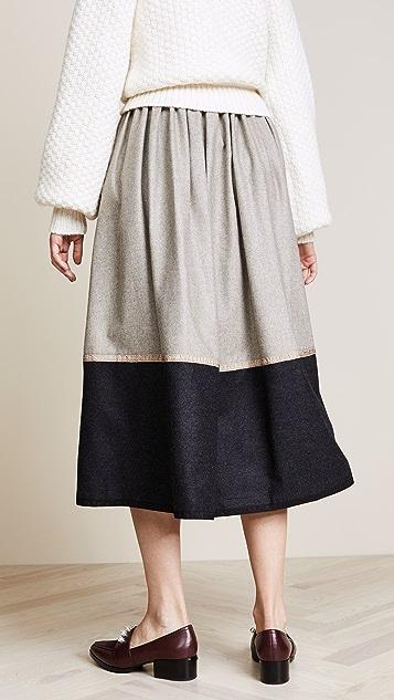 Rossella Jardini Colorblock Midi Skirt