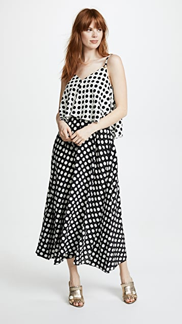 Rossella Jardini V Neck Tiered Dress - Polka Dot