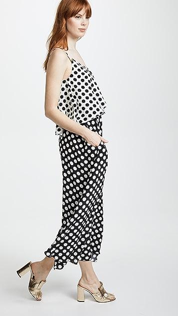 Rossella Jardini V Neck Tiered Dress