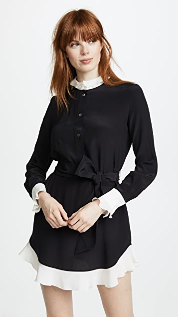 Rossella Jardini Shirt Dress with Ruffle Hem