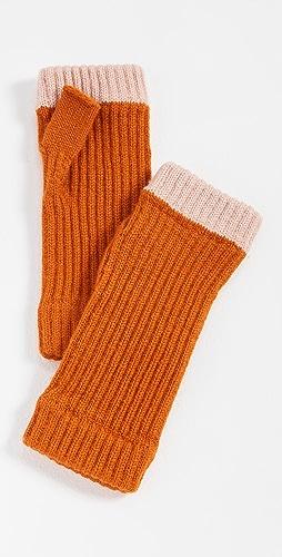 Rosie Sugden - Cashmere Contrast Wristwarmers