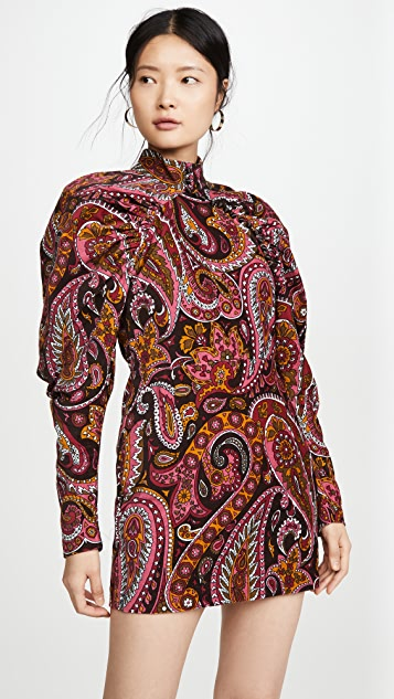 ROTATE Number 1 Paisley Velvet Dress