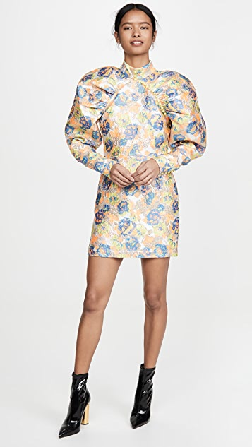 ROTATE Kim Jacquard Dress