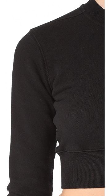 Rick Owens DRKSHDW Crewneck Cropped Sweatshirt