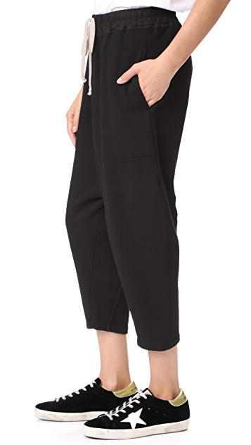 Rick Owens DRKSHDW Drawstring Cropped Sweatpants
