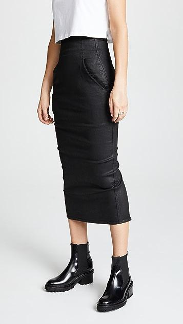 rick owens drkshdw dirt pillar calf length skirt shopbop