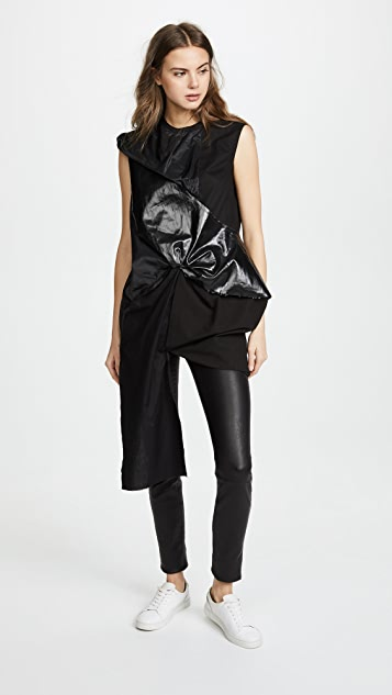 Rick Owens DRKSHDW Swoon Gathered Top