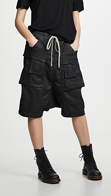 Rick Owens DRKSHDW Cargo Shorts - Black
