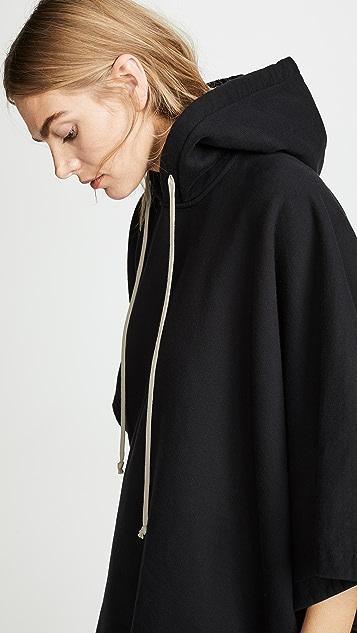 Rick Owens DRKSHDW Sweatshirt Hoodie Poncho