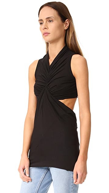 Rick Owens Lilies Sleeveless Cut Out Top