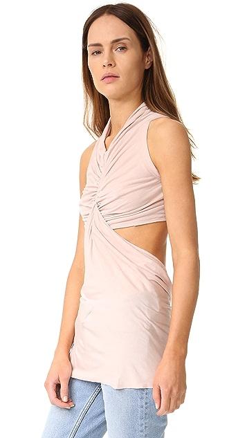 Rick Owens Lilies Sleeveless Cutout Top