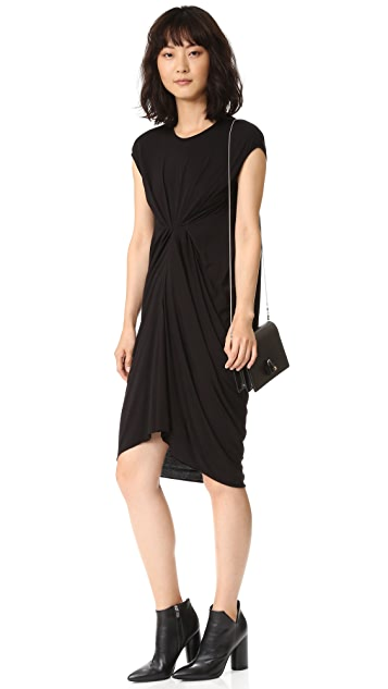 Rick Owens Lilies Sleeveless Front Ruched Dress