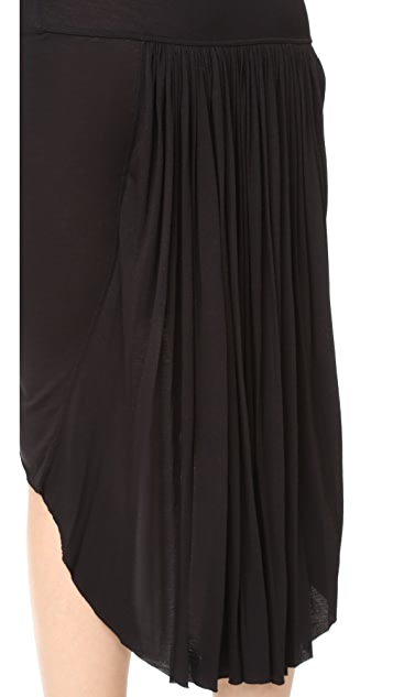 Rick Owens Lilies Back Pleat Skirt