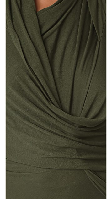 Rick Owens Lilies Long Sleeve Wrap Top