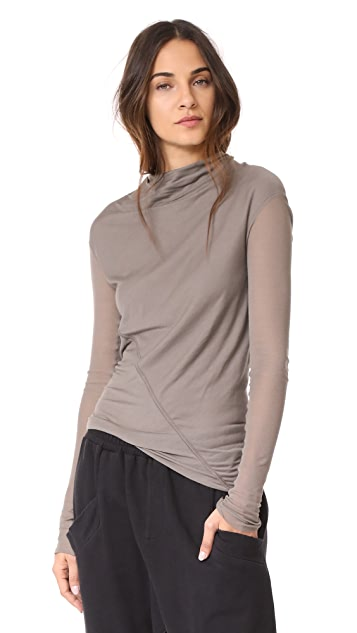 Rick Owens Lilies Long Sleeve Mock Neck