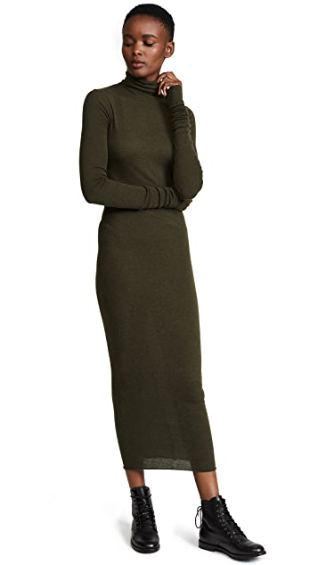 Rick Owens Lilies Long Sleeve Turtleneck Dress