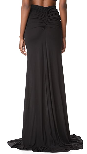 Rick Owens Lilies Gathered Maxi Skirt